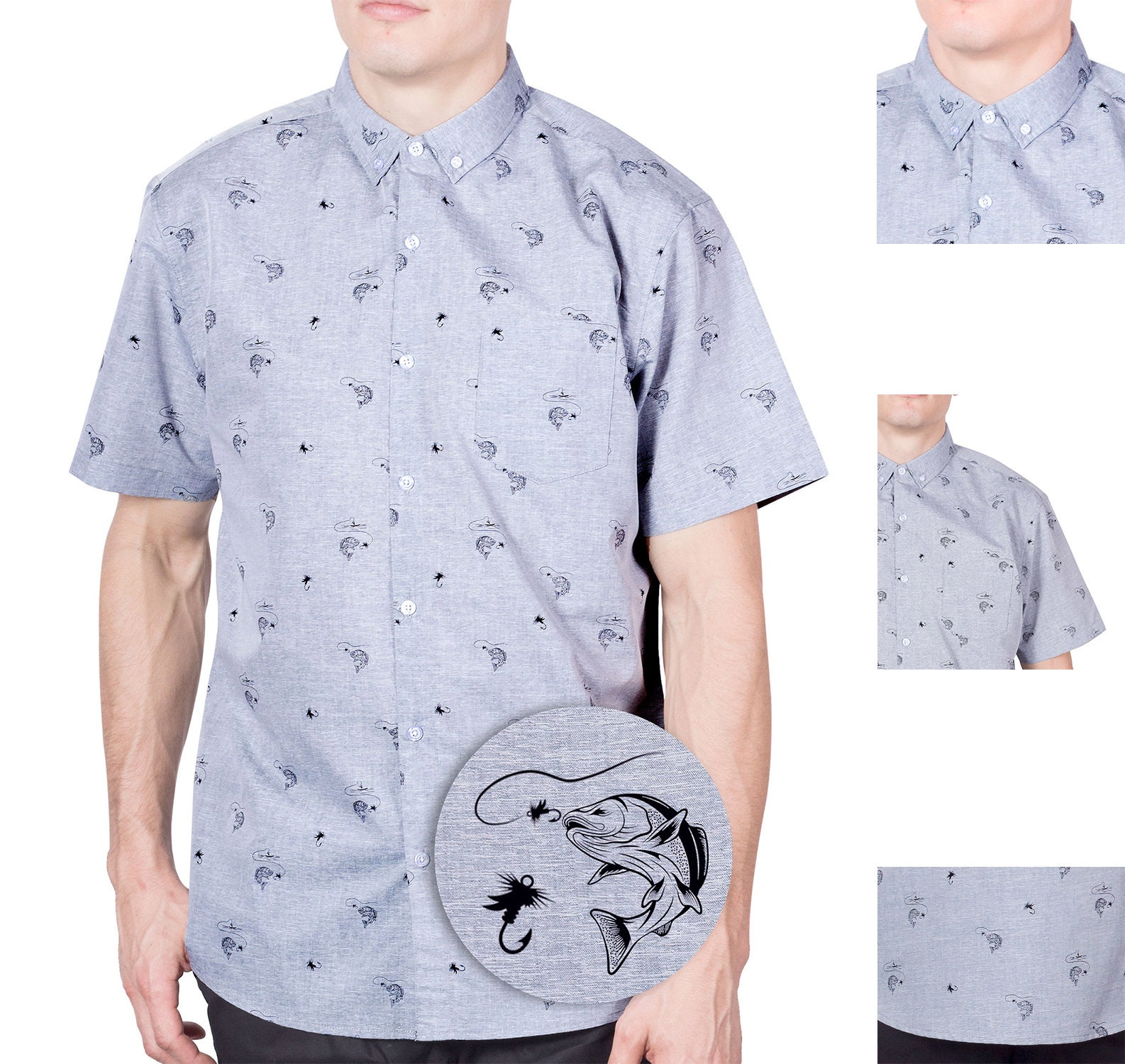 da6e1c6e1d739 Visive Hawaiian Shirt Short Sleeve Button Down Up Original