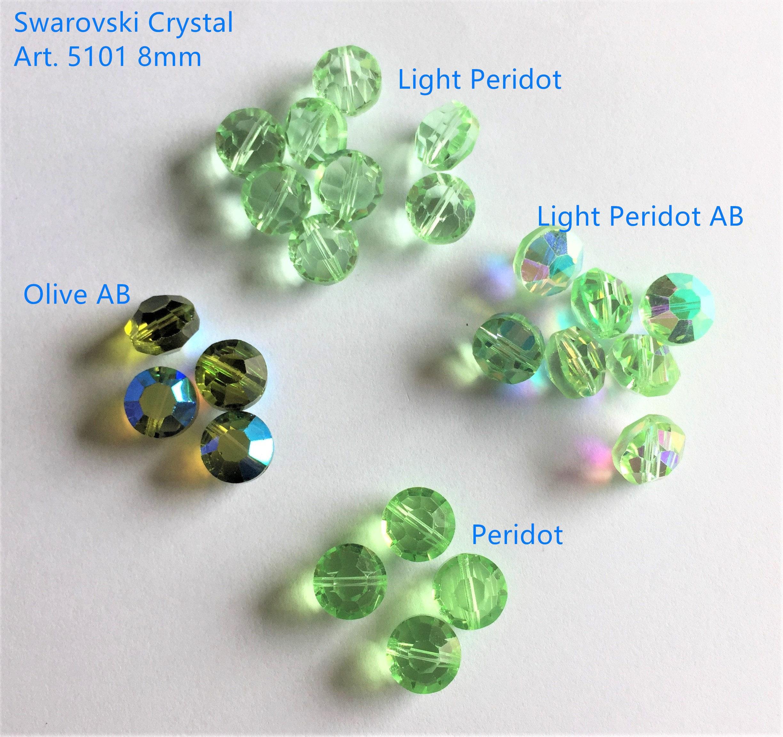 22 PCS Vintage Swarovski Crystal Art. 5101 8mm Beads – Olive AB, Peridot,  Light Peridot AB, Light Peridot, Closeout, Lowest wholesale price