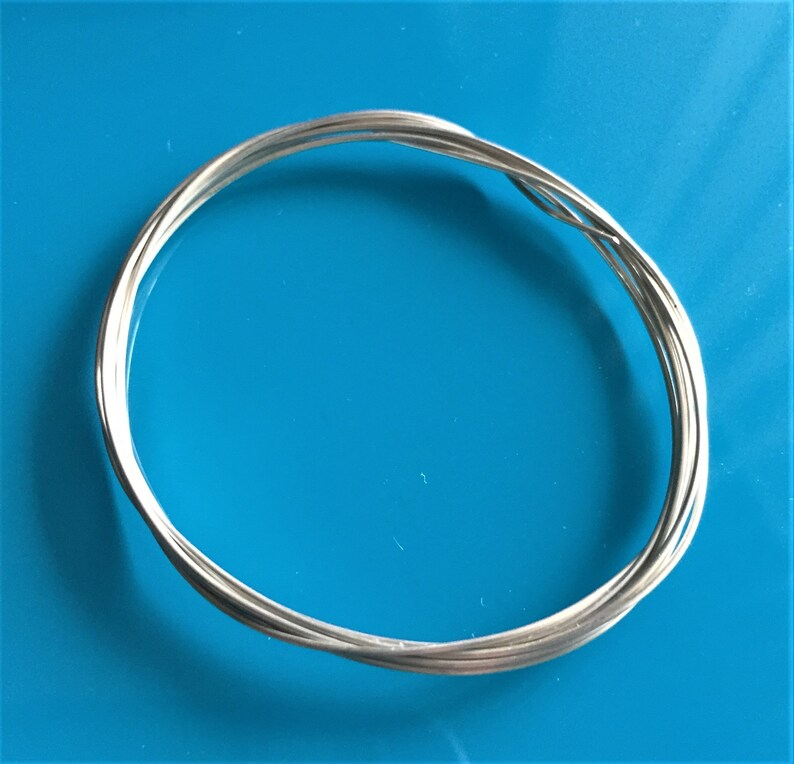 Plain Sterling silver Wire 0.5mm 24 Gauge Closeout 925 Sterling Silver Wire Coil \u2013 1 m wholesale price 39.37\u201d Full Hard