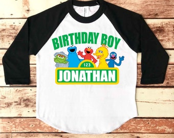 Sesame Street Birthday Shirt Party Custom