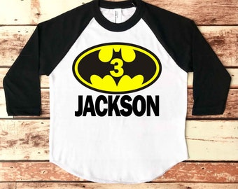 Batman Birthday Shirt, Batman Birthday Party, Batman Birthday Shirt Boy, 3rd Birthday Shirt Batman, 5th Birthday Shirt Batman, Birthday Boy