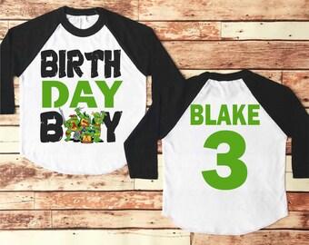 Ninja Turtle Birthday Shirt, Ninja Turtle Birthday, Ninja Turtle Party, Ninja Turtle Birthday Outfit, Ninja Turtles, Birthday Boy Shirt