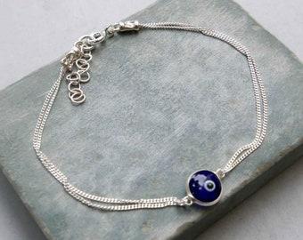 d739fda843f Silver Evil Eye Bracelet - Nazar Bracelet - Protection Bracelet - Sterling  Silver Jewelry - Evil Eye Jewelry - Nazar Jewelry - Eyeball