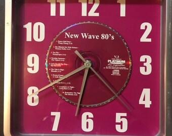 New Wave 80's CD clock