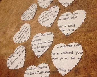 115 Alice in Wonderland paper hearts