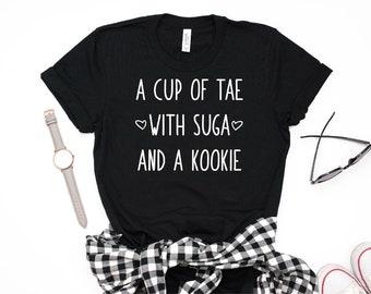 A Cup of Tae with Suga and a Kookie Shirt, Taehyung Tshirt, Suga Tee, Jungkook Shirt, BTS Short-Sleeve Unisex T-Shirt