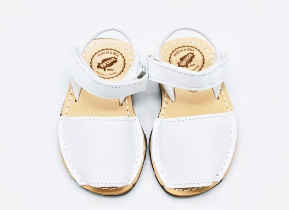 Menorquinas Girl Velcro White