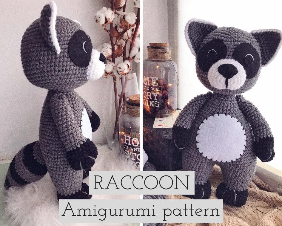 RACCOON | HOW TO CROCHET | AMIGURUMI TUTORIAL - YouTube | 756x945