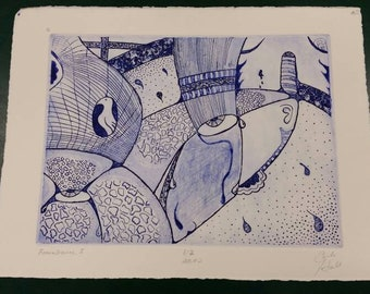 Remembrance I, is an intaglio print