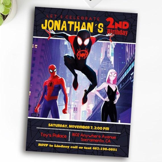 Spiderman InvitationSpiderman Invitation Birthday