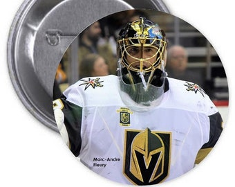 "MARC-ANDRE FLEURY -Las Vegas Golden Knights - Making History - Large 3"" diameter Collectible Pinback Button - Classic Sports Collection"