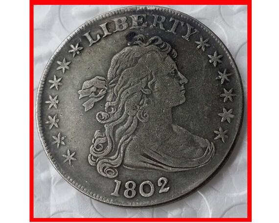 Seltene Antike Usa Usa 1802 Liberty Silber Dollar Münze Etsy