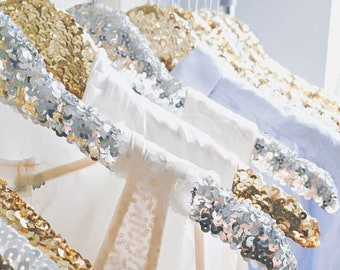 Sequin/Glitter Wedding Dress/Bridesmaid Hanger