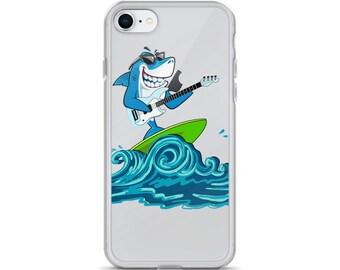 Surfing Guitar Shark Attack iPhone Case