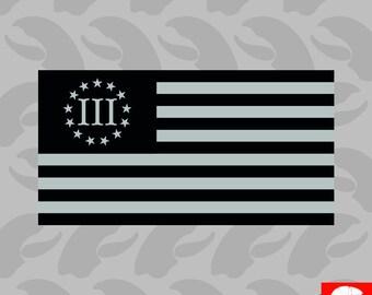 3/% Tattered Flag Give Me Liberty Stars Right Patriotic 1776 Molon Labe Sticker