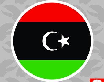 LIBYA Libyan Country Metal Flag Lapel Pin Badge *NEW*