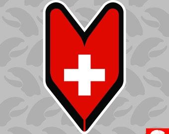 Trinidadian Driver Badge Sticker Vinyl wakaba leaf soshinoya Trinidad TTO TT