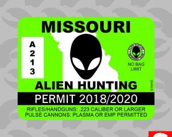 Alien UFO Visitor Martian Space Man Green Punk Vinyl Decal Skate Sticker