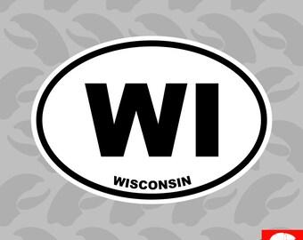 Wisconsin Shocker Sticker Die Cut Decal Self Adhesive Vinyl wisconsinite WI