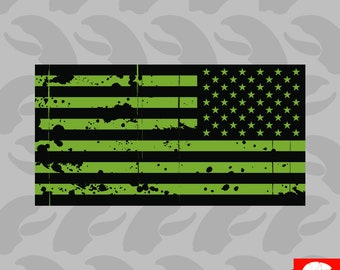 Pair AR15 Lower USA American Flags StickersDecals Distressed Black Ops Flag
