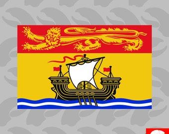 New Brunswick Flag Sticker Self Adhesive Vinyl Canada nb province - C1165