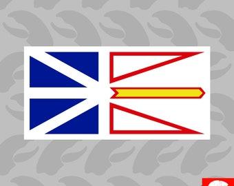 Newfoundland and Labrador Flag Sticker Self Adhesive Vinyl Canada nl province - C1170