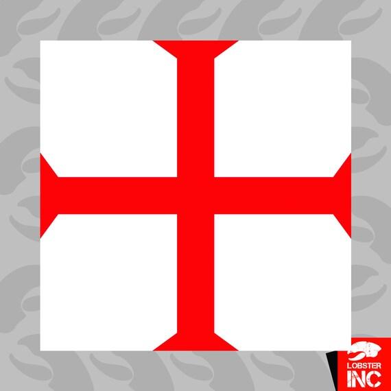 Knights Templar Symbol Sticker Self Adhesive Vinyl Knight Etsy