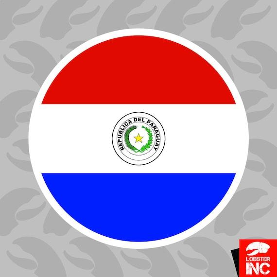 Sticker ** 5 Sizes ** Paraguay Flag Vinyl Decal