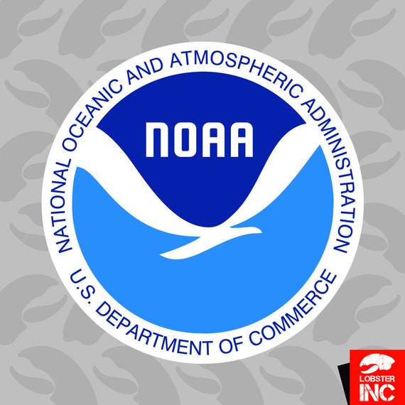 National Oceanic And Atmospheric Administration Logo Sticker Etsy