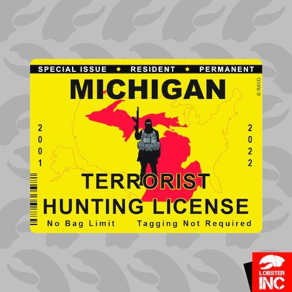 Bumper Sticker MICHIGAN Bigfoot Hunting Permit