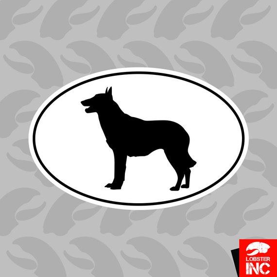 German Shepherd Euro Oval T-Shirt Tee Shirt Free Sticker dog canine