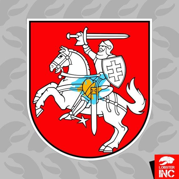 Lithuanian Flag Sticker Decal Vinyl Lithuania LTU LT