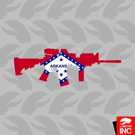 Arkansas Concealed Carry Permit Holder Sticker Decal Vinyl 2a permited v2