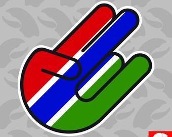 Gambian Shocker Sticker Self Adhesive Vinyl Gambia GMB GM - C1837
