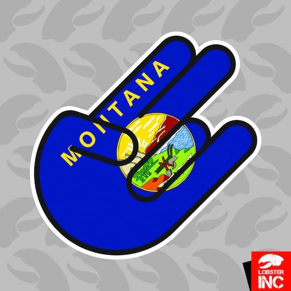 Montana Shocker Sticker Self Adhesive Vinyl montanan MT