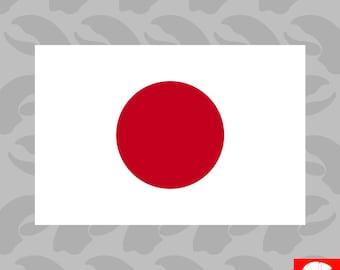 Japanese Flag Sticker Self Adhesive Vinyl japanese rising sun nippon - C615