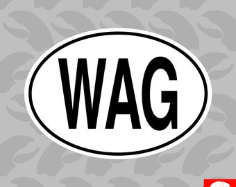 WAG Gambia Country Code Oval Sticker Self Adhesive Vinyl Gambian euro - C1436
