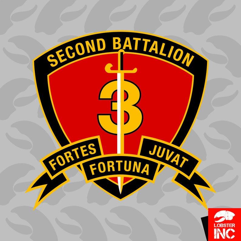 2nd Battalion 3rd Marine Regiment USMC Sticker Self Adhesive Vinyl Marines  Corp - C5045