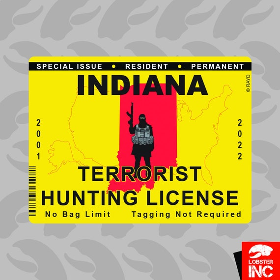 New Mexico Terrorist Hunting Permit Sticker Decal Vinyl License NM