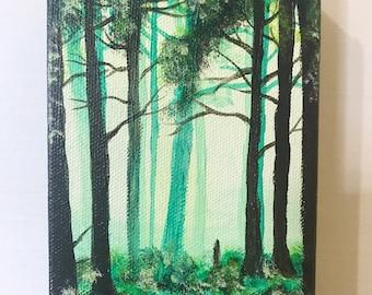 Original Fairy Forest Acrylic Painting