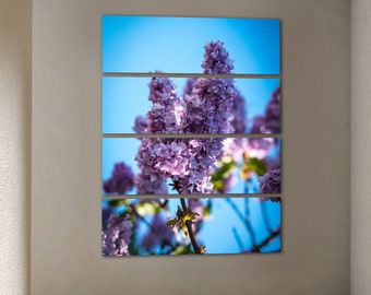 Lilac flower painting Canvas printed canvas