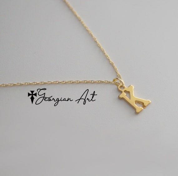 Solid 10k Rose Gold Dainty Anchor Pendant Necklace