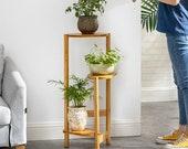 3 Tier Corner Wooden Plant Stand Ladder Flower Pot Display Rack Shelf Gift Organization Minimalistic Best Seller