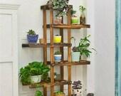 Pine Wood Stand For Plants, Bathroom, Bookcase, Shelf, Rack Corner Flower Holder Indoor Garden, Plant ladder ON SALE