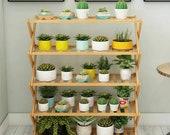 5 Tier Corner Wooden Plant Stand Folding Ladder Flower Pot Display Rack Shelf Gift Organization Minimalistic