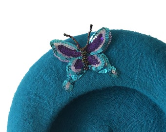 The butterfly by Yasmin Odalisque berets - turquoise