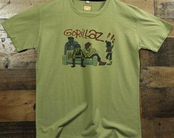 ea4e3def Gorillaz Virtual Alternative Rock/Pop Band 100% Moisture Wicking  Performance Polyester Graphic Tee T-Shirt