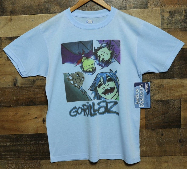 fb66cbe7bb270 Gorillaz Shirt Vapor Apparel American BackCountry Gorillaz T-Shirt Virtual  Band Members Clothing Moisture Wicking Performance Tee Top