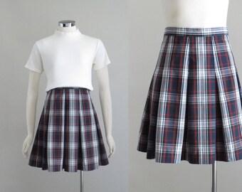 Navy+Tan+Light Purple NAVY PLAID PLEATED SKIRT fits American Girl Sale!