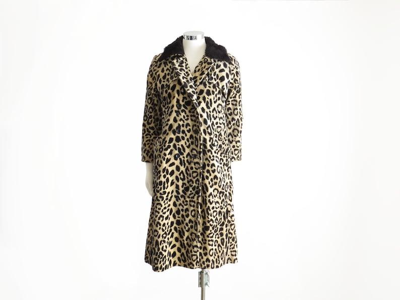 404376a089db Leopard Coat Vintage Leopard Print Coat Faux Fur Coat Animal | Etsy